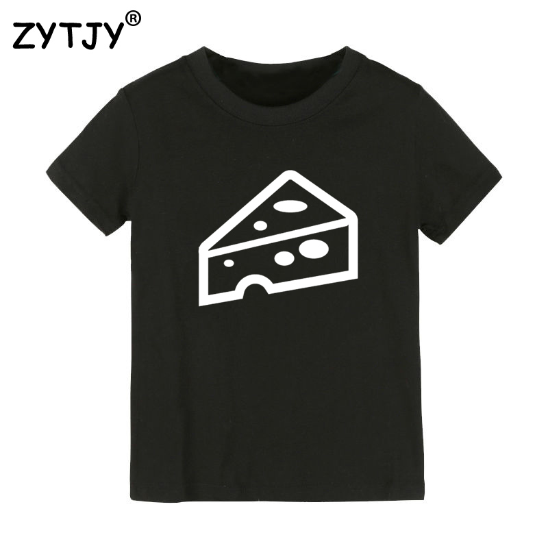 cheese Print Kids tshirt Boy Girl t shirt For Children Toddler Clothes Funny Top Tees Drop Ship Y-13