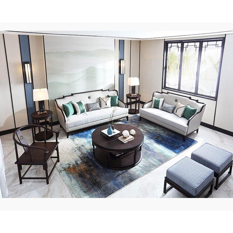 US $31291.6 |sofa set living room furniture wood sofas designer love seat  Modern Chinese Wooden Tea Table divano kanepe banken 2019 meuble tv-in ...