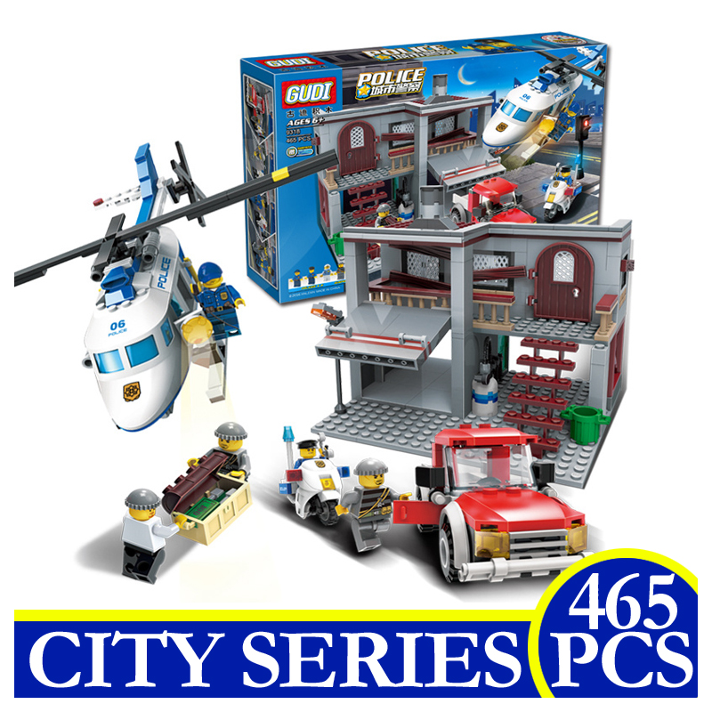 9318 465pcs City Series Police Helicopter Chase Model Building Blocks Bricks Educational Children Gifts Compatible LEPIN city series helicopter surveillance building blocks policeman models toys children boy gifts compatible with legoeinglys 26017