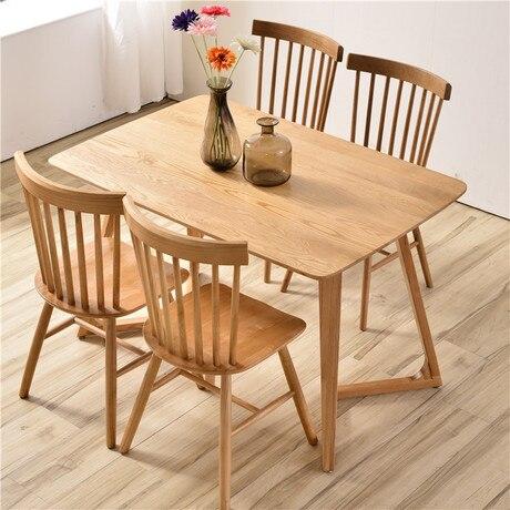 € 661.6 |Mesas de comedor muebles para el hogar mesa de cocina de madera  maciza mesa de centro escritorio minimalista 120/140/160*70*75 cm nuevo-in  ...