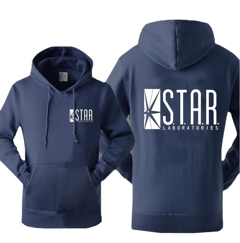 Super Hero The Flash STAR S.T.A.R Labs Mens Sweatshirt 2019 Hot Autumn Winter Warm Fleece Hoodies Fashion Casual Tracksuit Men