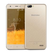"Original Blackview A7 Smartphone Android 7.0 Dual Rear Cameras MT6580A Quad Core 5.0"" 1GB+8GB 2800mah 5MP 3G WCDMA Mobile Phone(Hong Kong)"