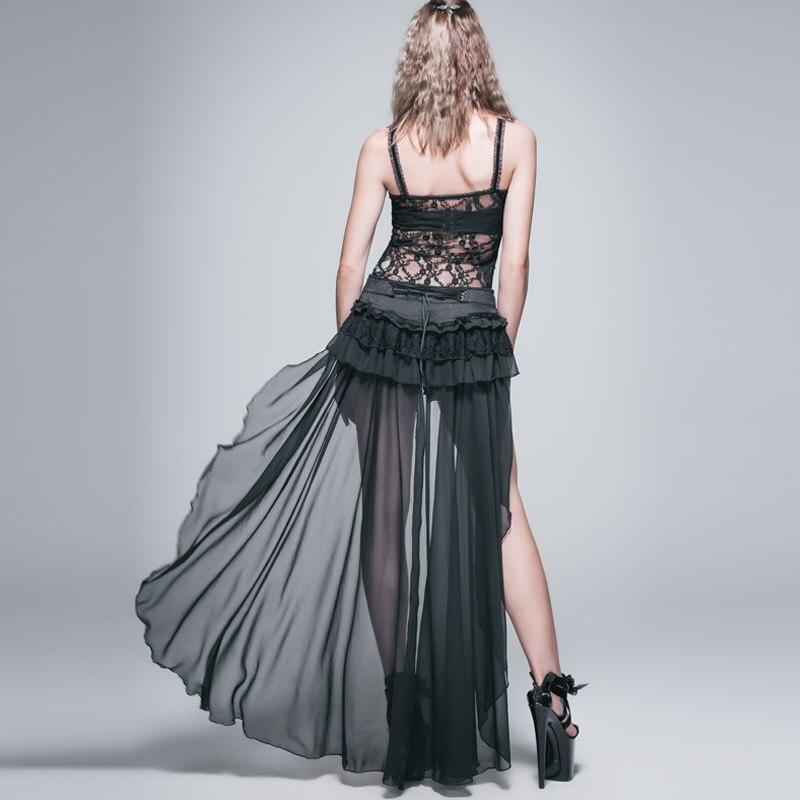 Diabo moda gótico preto sexy shorts com renda longa steampunk verão feminino legal shorts calças personalizadas - 3