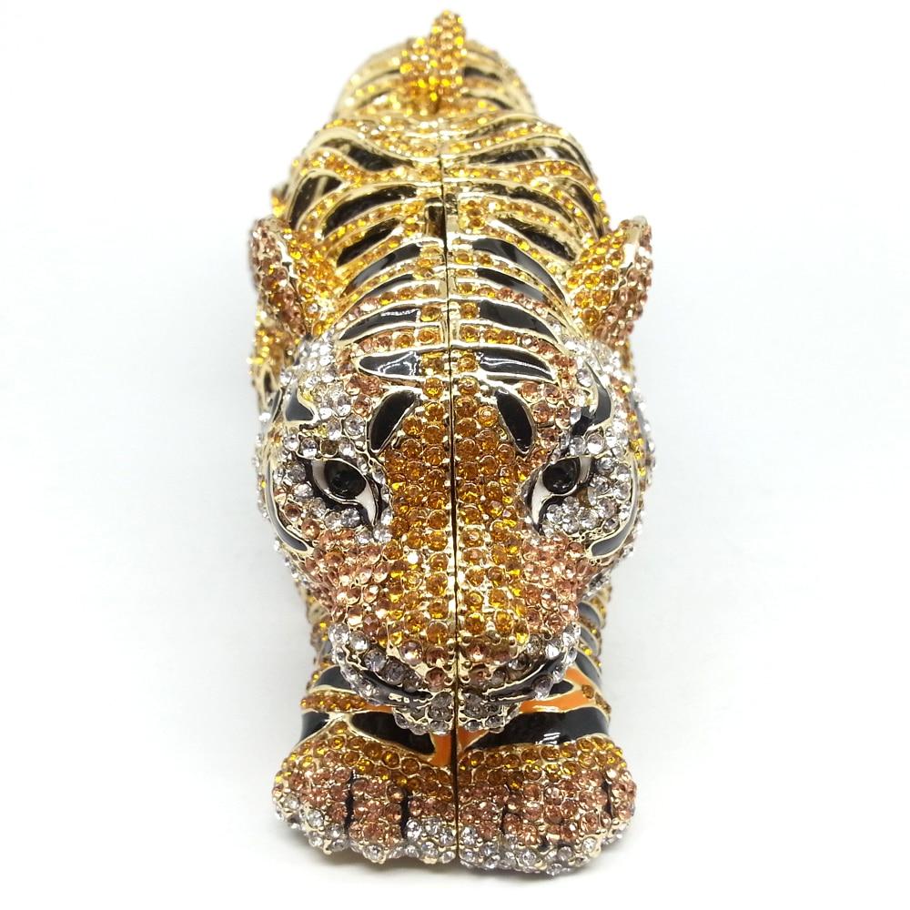 Image 4 - Boutique De FGG Elegant Women Gold Tiger Clutch Minaudiere  Evening Bags Diamond Wedding Handbag Bridal Purse Party Dinner  Bagevening clutch bagsbag ladiesclutch bag