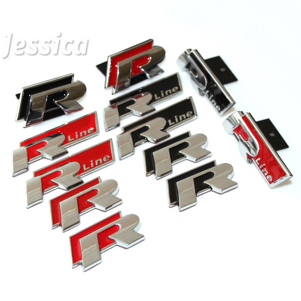 metal 3d car auto rline stickers emblem r line badges for volkswagen vw jetta magotan cc golf. Black Bedroom Furniture Sets. Home Design Ideas