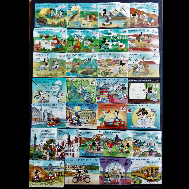 370 400 PCS All Different All New Big Size World Wide Cartoon Postage Stamps For Collection