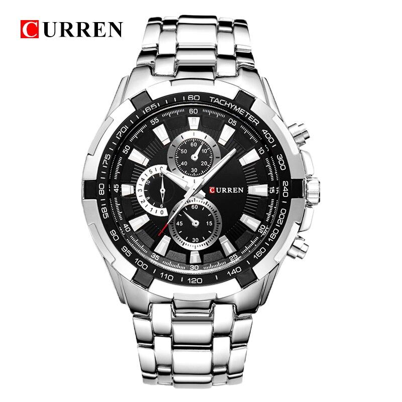 HOT2016 CURREN Horloges Mannen quartz Topmerk Analoge Militaire mannelijke Horloges Mannen Sport leger Horloge Waterdicht Relogio Masculino8023