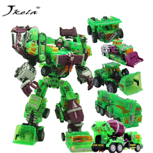 цена [New] NBK 1-6style Transparent Scrapper Bonecrusher Scavenger Mixmaster Ko Version Action Figures Action figure Robot Toys