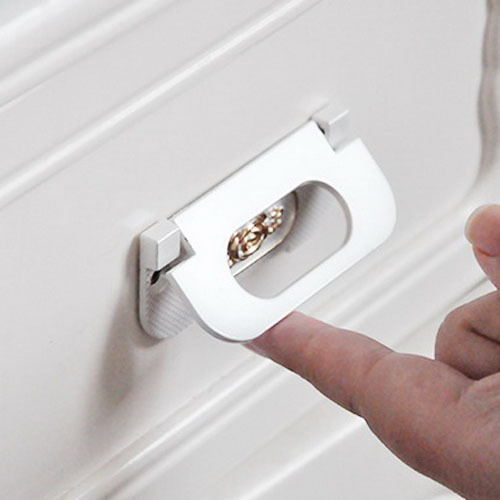64mm White Hidden Concealed Drawer Pull Kitchen Cupboard Closet Dresser  Drawer Handle Furniture Pulls Bar In Cabinet Pulls From Home Improvement On  ...