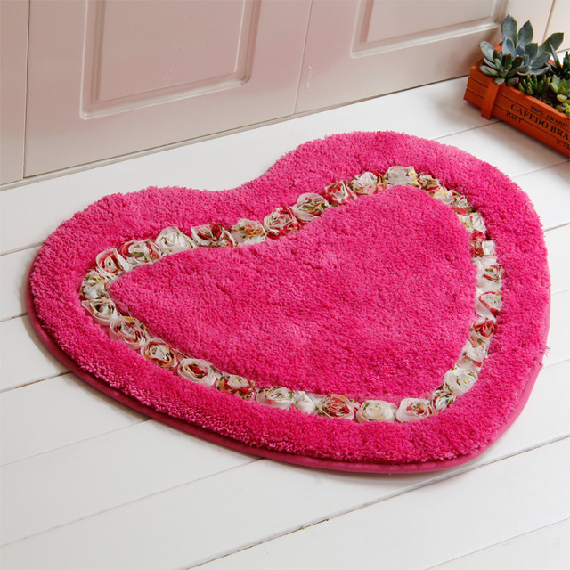 New product 1PCS Pastoral Shaggy Heart Shaped Carpet For Living Room ...