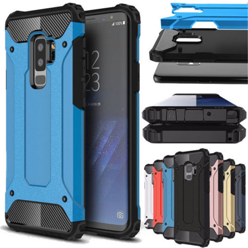 Rugged Armor Case For Samsung Galaxy S9 Plus S5 S6 S7 Edge S8 Note 4 5 8 9 A6 A7 A8 J8 J4 J6 Prime 2018 Hard PC Shockproof Case(China)