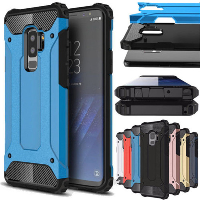 3e801fac880 Rugged Armor Case For Samsung Galaxy S9 Plus S5 S6 S7 Edge S8 Note 4 5 8 9  A6 A7 A8 J8 J4 J6 Prime 2018 Hard PC Shockproof Case