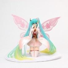 где купить 17.5 CM Anime Action Figure Vocaloid Virtual Singer Idol Butterfly Wing Ver kimono Lovely Hatsune Miku Collection Model Toy Gift по лучшей цене