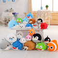 New Hot Sale 20cm Tsum Finding Nemo Dory Bailey Destiny Hank Mr. Ray Plush Particle Stuffed Animals Toys For Children Gifts