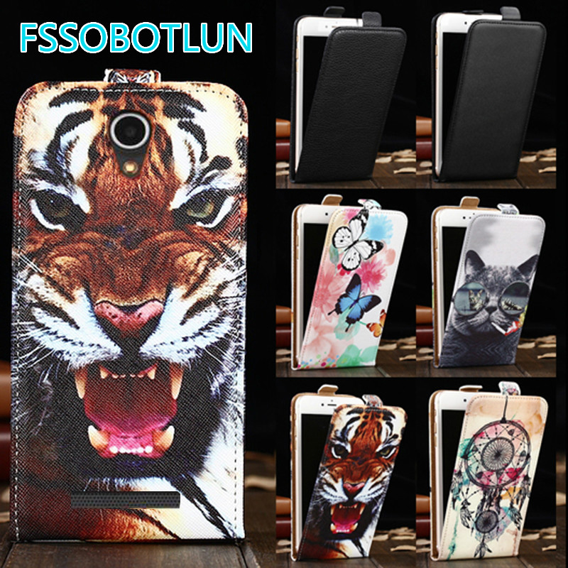 For <font><b>Micromax</b></font> Bharat 2 <font><b>Q402</b></font> Case Luxury Cartoon Painting vertical phone bag flip up and down PU Leather cover image