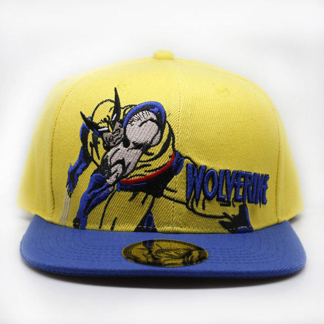 9e4889a3e4c10 Wolverine Baseball Cap New Fashion Men and Women cartoons Cosplay Hip Hop  Caps Casual Yellow Embroidered Letter Snapback Hats