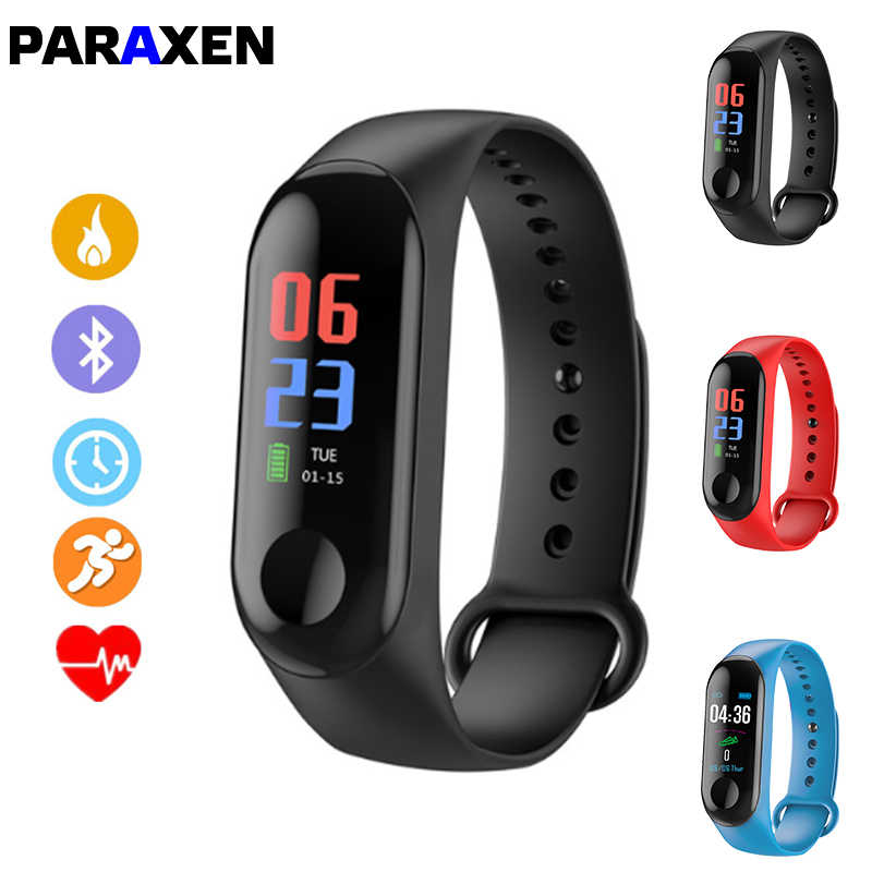 PARAXEN Sports Smart bracelet M3 Color Fitness Tracker For iOS Android Smar tband for woman Wristband Bluetooth Blood Pressure