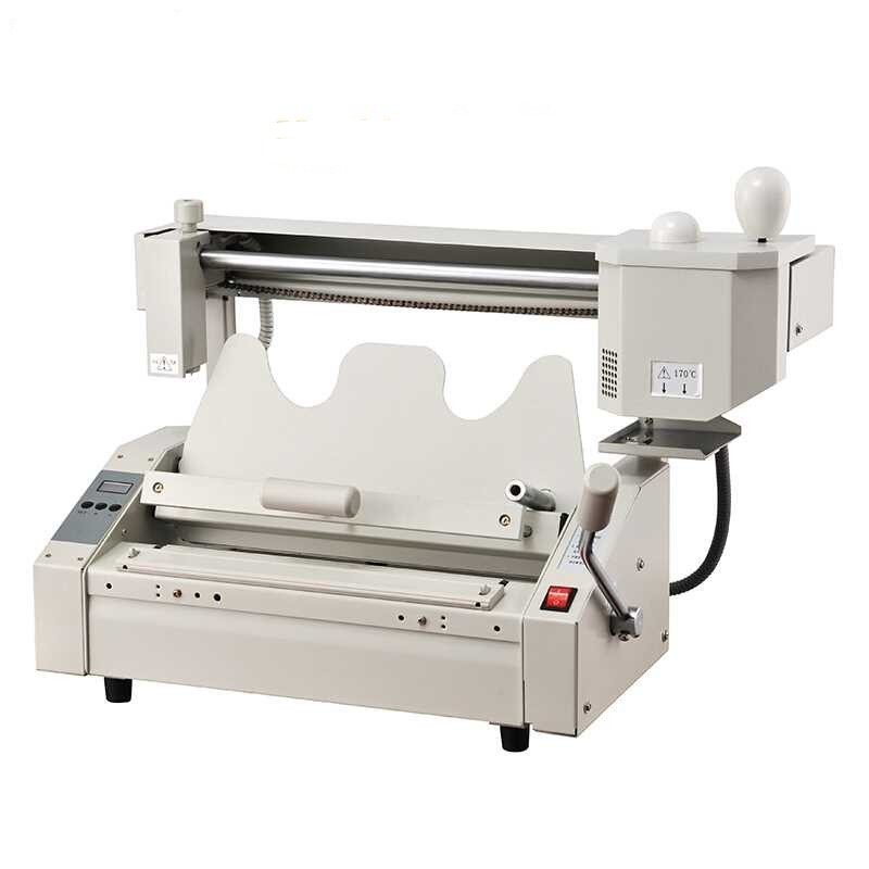 2018 New Upgrade Manual Perfect binding machine hot melt glue book binder machine 40mm thick стоимость