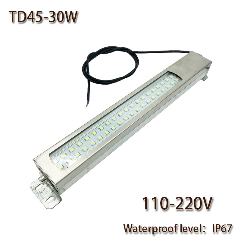 HNTD 30W  AC 110V/220V LED Metal work light CNC machine work tool lighting TD45 Waterproof  IP67 Led Panel Light Free shipping hntd 6w 110v 220v led spotlights long arm folding lamp work light waterproof ip65 cnc machine tools lighting free shipping