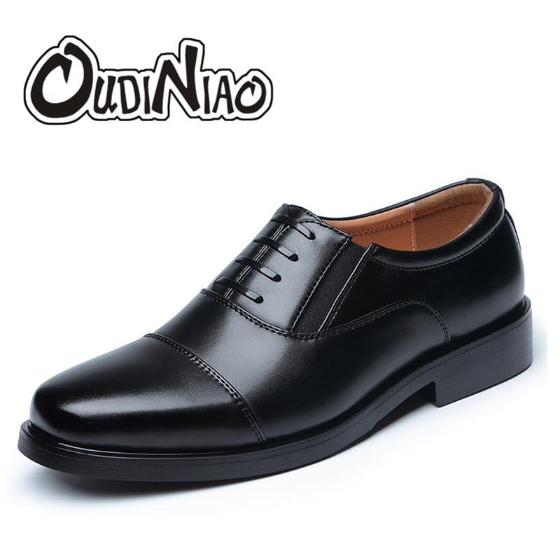 Casual Luxe Bureau Chaussures Oxfords Lace Mens blacklace Solide Noir Blackslip Slip Oudiniao D'hiver De Chaud Hommes Up slip Sur Warm Robe q0EPSxwn