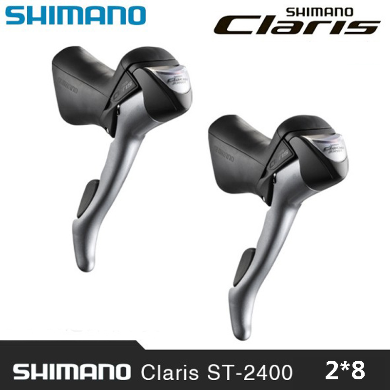 SHIMANO Claris ST-2400 Brake Shifter Bike Dual Lever Road Bike Transmission Bike Spare Parts Control Handle 2*8 free delivery 105 st 5800 2 x 11 speed brake shift bike dual control lever 1 pair