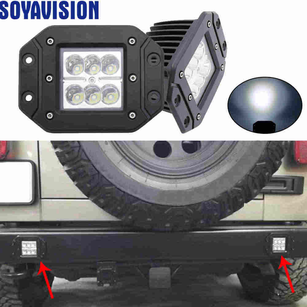 Flush Mount Backup Reverse Front Rear Bumper Led Lights Cube Pods Fog Lamp For Offroad Lada Niva Uaz Toyota Audi Led Work Lights