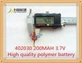 3.7 В литий-полимерная батарея 042030 402030 200 мАч MP3 MP4 MP5