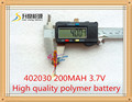 3.7V lithium polymer battery 042030 402030 200mah MP3 MP4 MP5