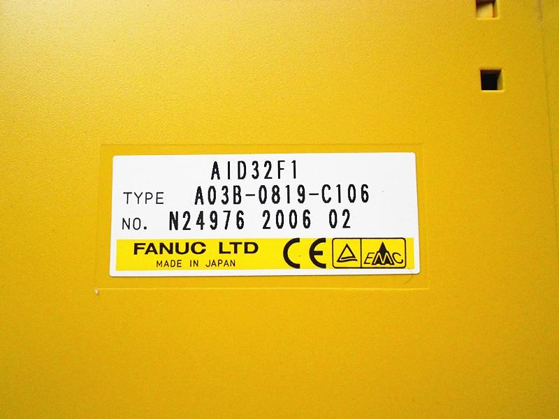FANUC I/O A03B-0819-C106 for control  spare parts AID32F1 cnc KITSFANUC I/O A03B-0819-C106 for control  spare parts AID32F1 cnc KITS