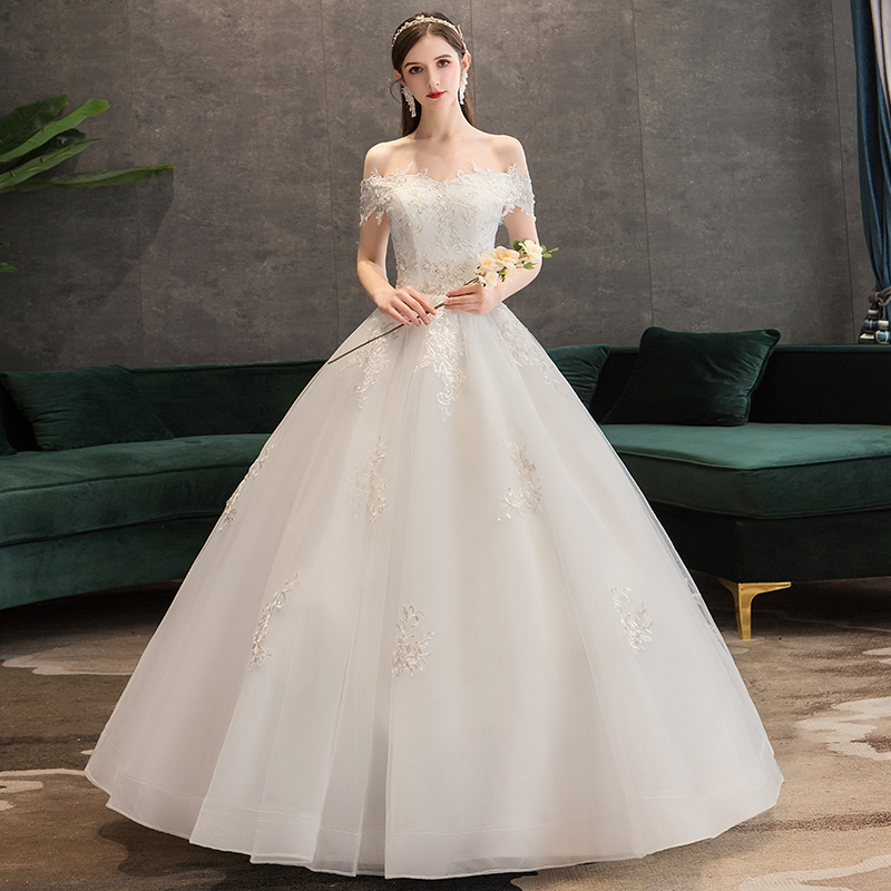 Fansmile Robe De Mariage Princess White Ball Gown Wedding Dresses 2019 Vestido De Noiva Plus Size