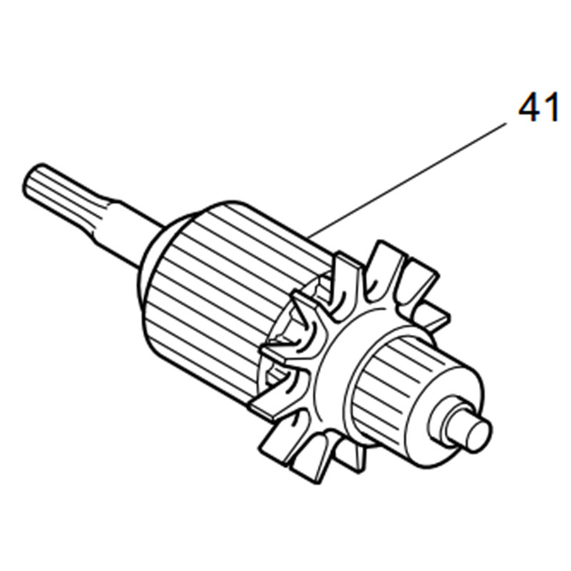 Armature moteur moteur 651994-8 pour MAKITA BTW200WA BTW200 BTD200