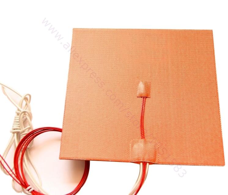 USA Import Material 200X200mm 500W 220V 110V 24V Cube Flexible Silicone Heater Prusa i3 RepRap 3D