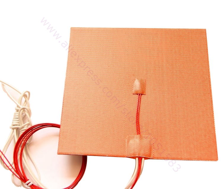 USA Import Material! 200X200mm,500W@ 220V/ 110V/ 24V, Cube Flexible Silicone Heater Prusa i3 RepRap 3D Printer Heated bed