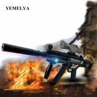 MP5 Black Electric Submachine Gun With Laser Sniper Toy Cosplay Guns