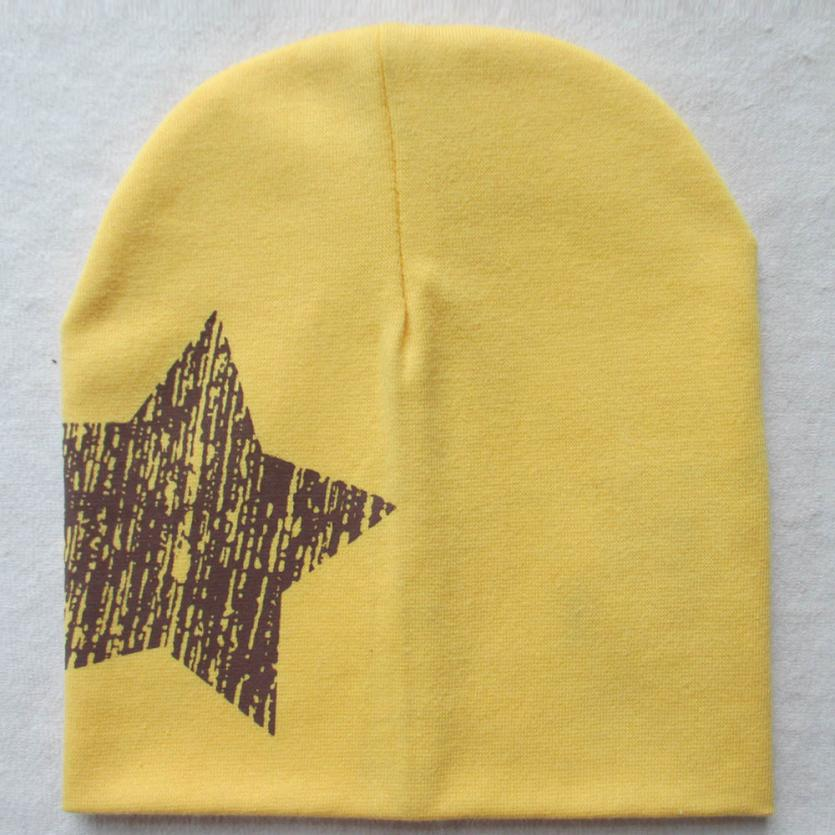 Hot Hats Print Star Baby Beanie For Boys Girls Cotton Knit Hat Children Winter Hats Dropshipping Free Shipping A19