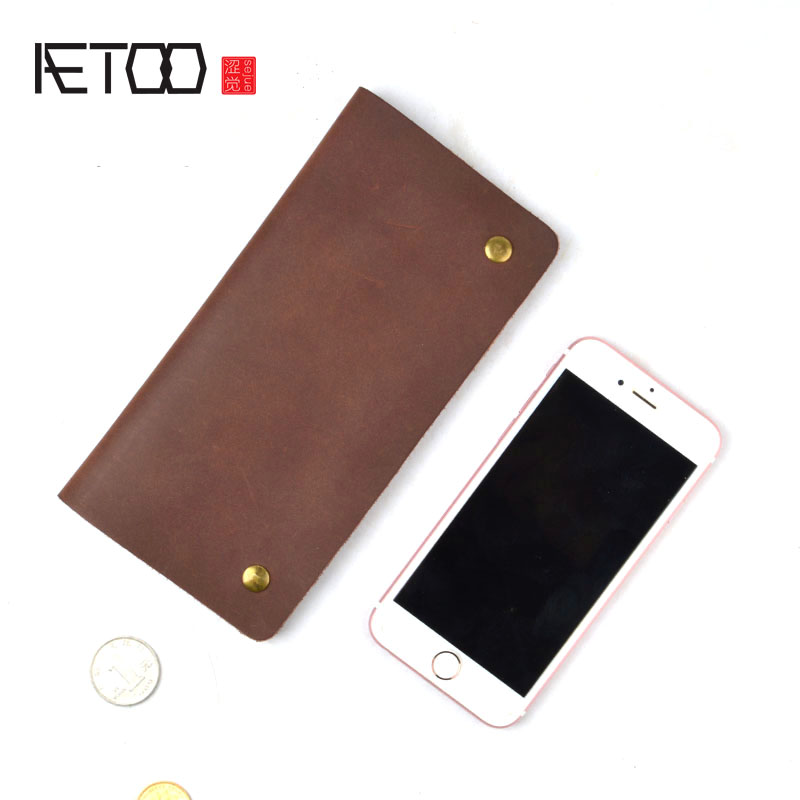 AETOO Split Leather Men Wallet vintage Super Thin Leather Handmade Slim wallet Men Short Small Wallet phone Purse wallet wooden stacking train vehicle building blocks kids educational montessori geometric assemb matching cognitive blocks toys