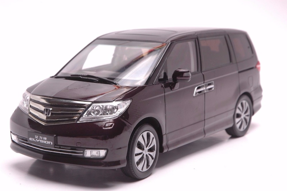 1:18 Diecast Model for Honda Elysion Purple MPV Alloy Toy Car Miniature Collection Gifts Van 1 18 diecast model for volkswagen vw all new touran l 2016 brown mpv alloy toy car miniature collection gifts