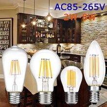 2W/4W/6W/8W  E27(26) /E14 Edison LED Light  Bulb Vintage LED Filament Light Bulb Candle Light For Restaurant Reading Room D40 цена