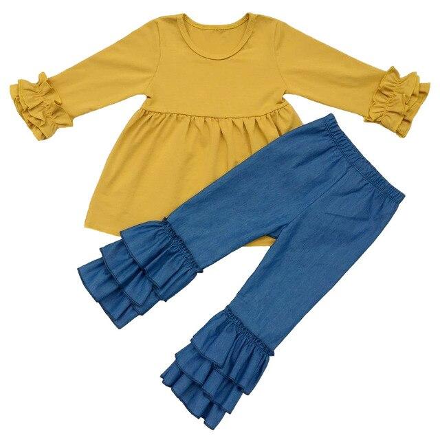 8e8229797a6e0 Girls Knit Ruffle sleeve Tunic shirt