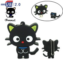 100% capability Cute cartoon cat usb flash drive pendrive 32GB 16GB 8GB 4GB memory stick pen drive usb stick  personalized gift