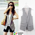 Free shipping , Plus size women suit vest, Fashion Causul Waistcoat, Sleeveless Slim lady Vest , size S-XXXXL