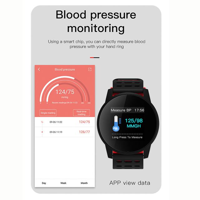 Reloj inteligente deportivo para hombre, mujer, presión arterial, actividad impermeable, rastreador de ritmo cardíaco, Monitor inteligente, GPS, Android, ios