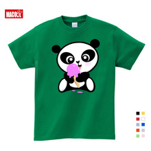 Summer Kids Cartoon T-shirt Printing Chinese Style Girls Lovely Giant Panda Cute T Shirt Baby Clothes for
