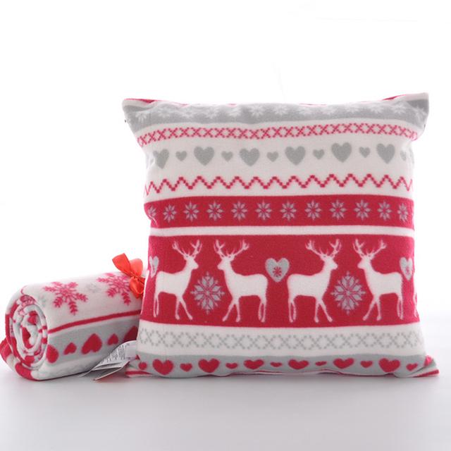 Criativo selo dual-use travesseiro de pelúcia travesseiro carro bonito Do Natal/cobertores de Lã cobertor do bebê cobertores de lã de poliéster personalizado