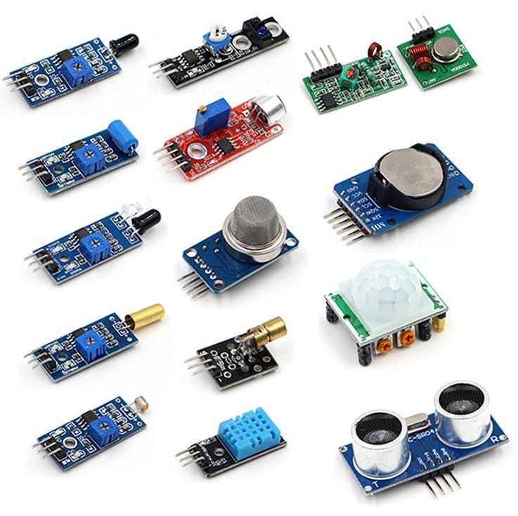16 в 1 Сенсор комплект проект Супер Starter Наборы для Arduino и Raspberry Pi 3