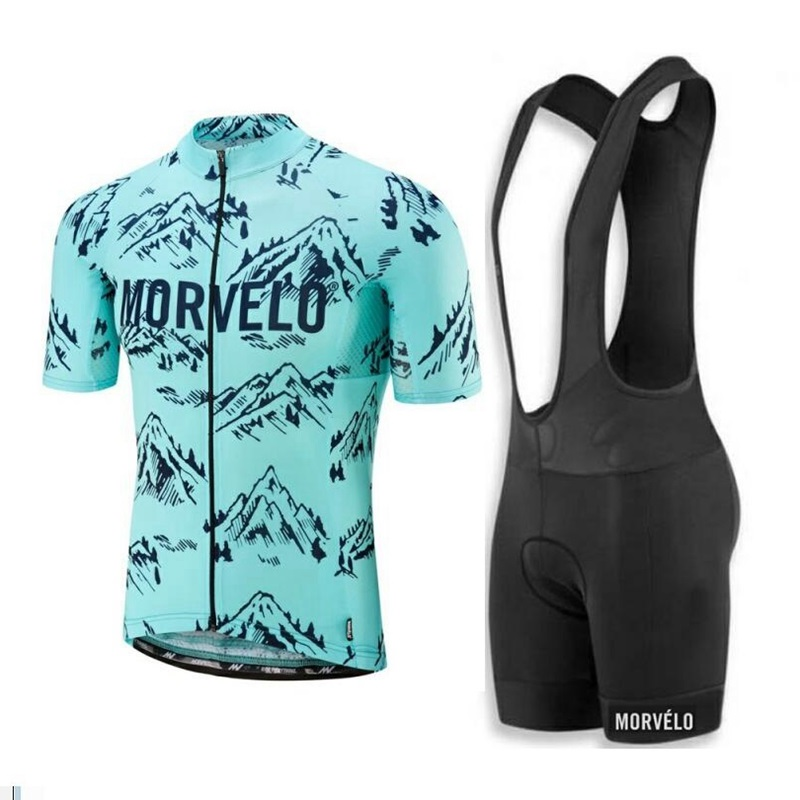 New Style Morvelo Cycling Clothing 2019 Summer Breathable Cycling Jersey Pro Team Short Sleeve Jersey And Bib Shorts Kit