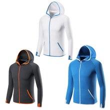 Анти-УФ Солнцезащитная одежда летняя одежда для рыбалки дышащий шелк светло-голубого цвета Верхняя одежда Быстросохнущий походный костюм