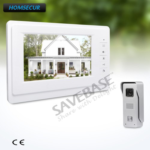 HOMSECUR 7inch Wired Video Door Intercom System with One Button Unlock for Home Security homsecur 7 wired video door entry call system with one button unlock for home security