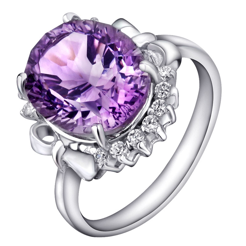 Natural Amethyst 3 carat Ring 925 Sterling silver Lux Crystal Woman Fashion Fine Elegant Jewelry Queen Birthstone Gift sr0095a все цены