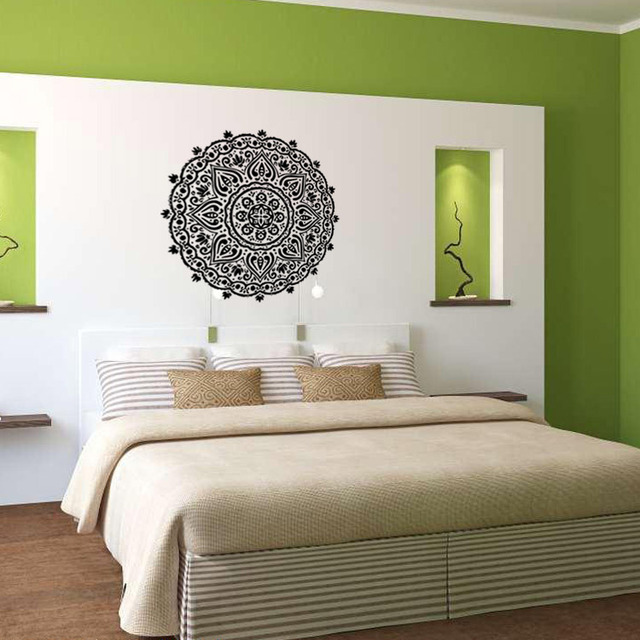 New Arrival Home Decoration Indian Buddhist Mandala Art Deco Wall Decals  Sticker Living Room Bedroom Home. Aliexpress com   Buy New Arrival Home Decoration Indian Buddhist